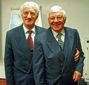 Ambassador Mehmet Elezi and president Rolf Alther