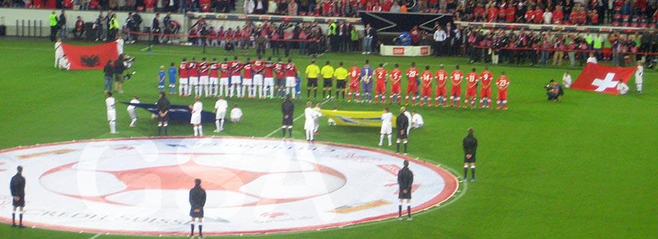Fussballspiel Schweiz-Albanien, 11. September 2012 in Luzern