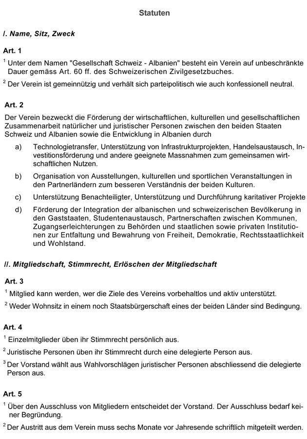 Statuten GSA Seite 1