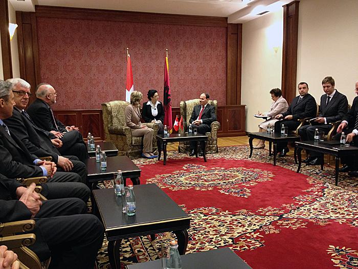Maya Graf zu Besuch beim albanischen Präsidenten