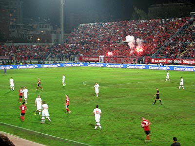 Passionate Albanian supporters