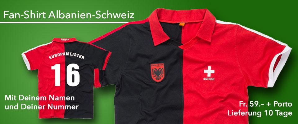 Fan-Shirt Schweiz-Albanien