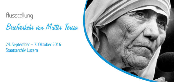 "Ausstellung ""Briefverkehr Mutter Teresa"""