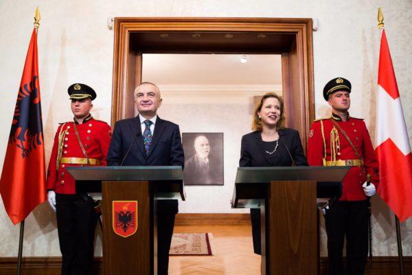 Nationalratspräsidentin Christa Markwalder in Albanien