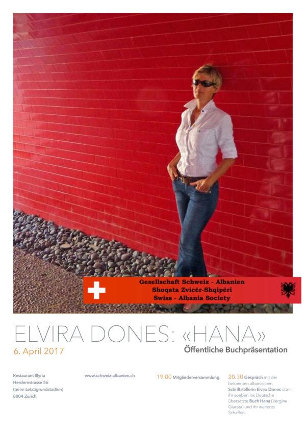 Elvira Dones –Buchpräsentation